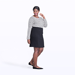 Women's plus size skirts